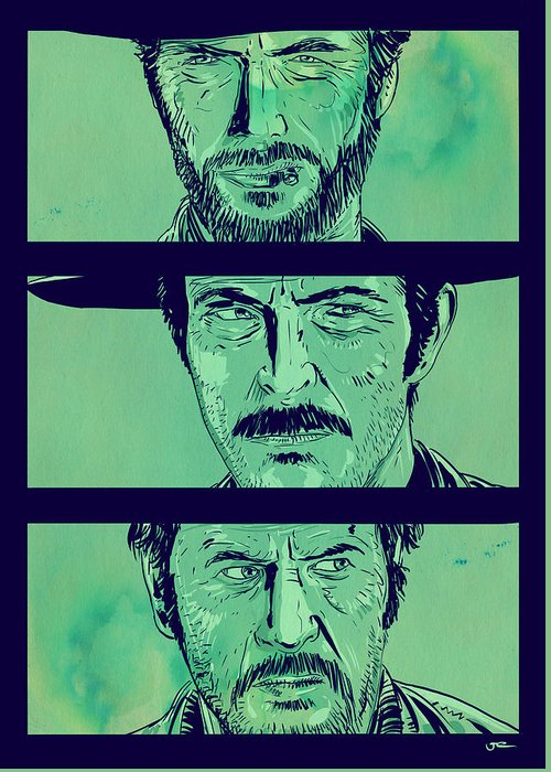 Spaghetti Westerns Greeting Cards