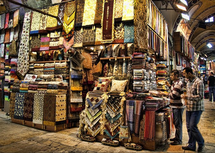 Turkey Greeting Card featuring the photograph The Grand Bazaar In Istanbul Turkey by David Smith