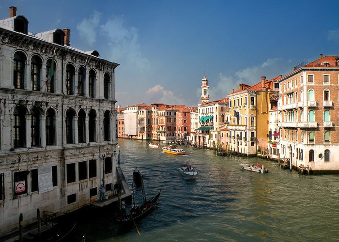 Grand Canal Greeting Card featuring the photograph The Grand Canal by Micki Findlay