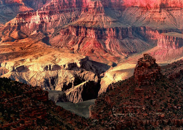 Arizona.the Grand Canyon Greeting Card featuring the photograph The Grand Canyon I by Tom Prendergast
