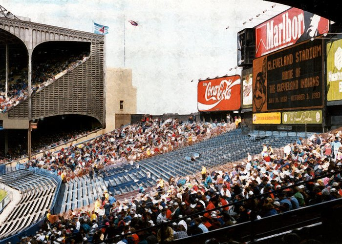 Cleveland Greeting Card featuring the photograph The Grand Finale by Kenneth Krolikowski