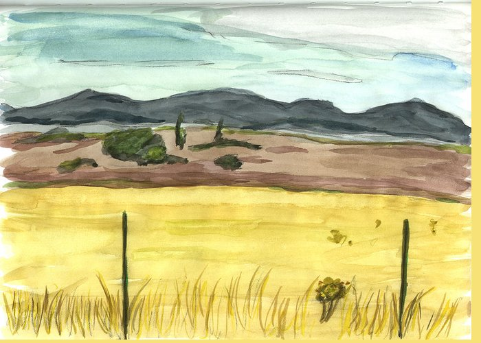 Kevin Callahan Greeting Card featuring the painting The Great Basin Utah by Kevin Callahan