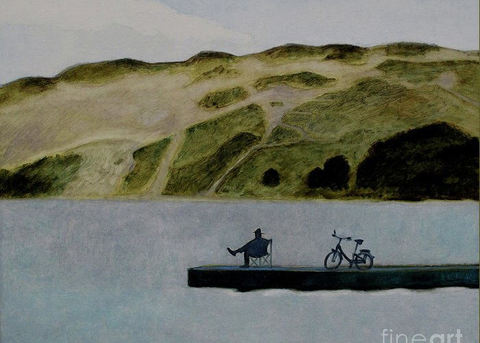 Nida Greeting Card featuring the painting The Great Nida's Dune by Raimonda Jatkeviciute-Kasparaviciene