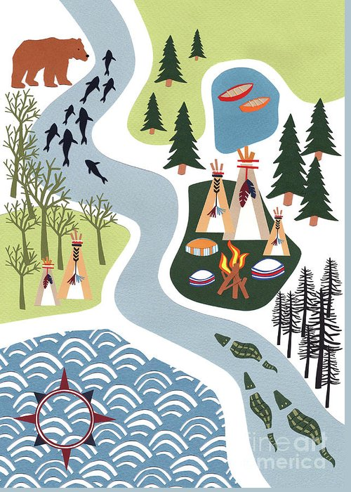 Campsite Greeting Cards