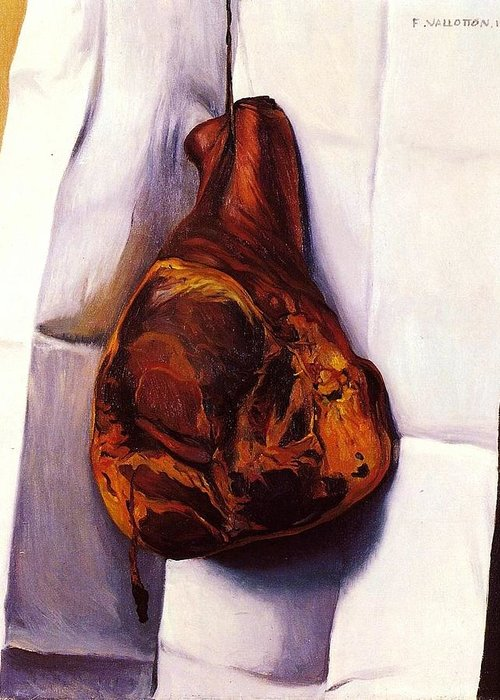 Pd Greeting Card featuring the painting The Ham by Pg Reproductions