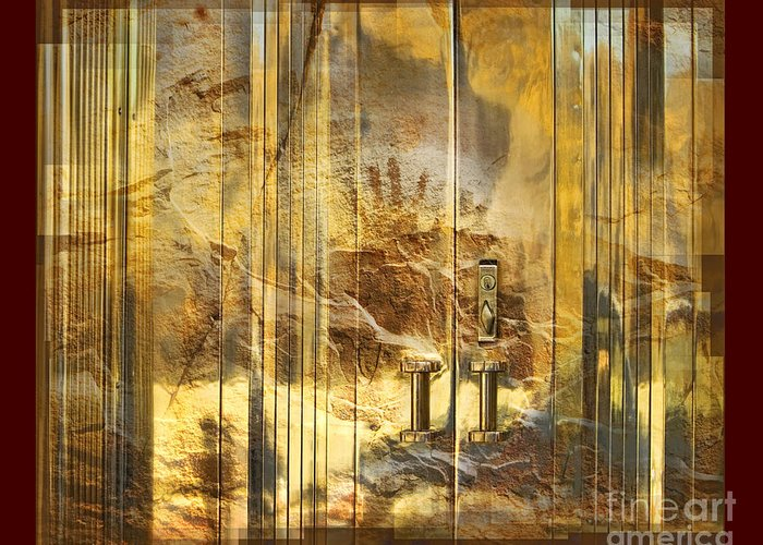 Conservation Greeting Card featuring the digital art The Hands Of Time by Chuck Brittenham
