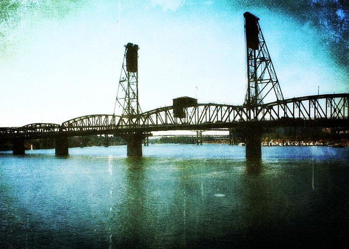 Bridges Greeting Card featuring the photograph The Hawthorne Bridge by Cathie Tyler