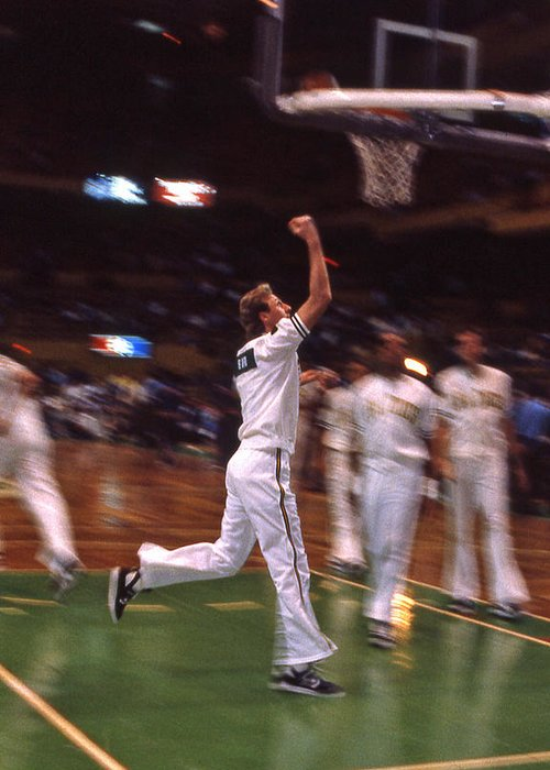Larry Bird Greeting Card featuring the photograph The Hick From French Lick by Mike Martin