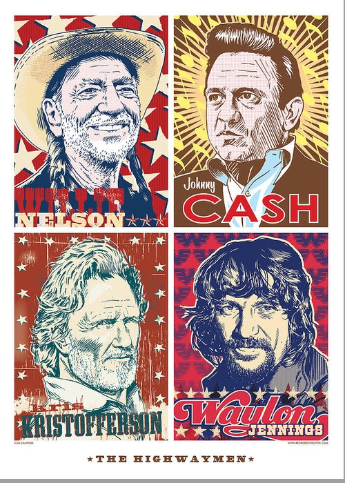 Johnny Cash Greeting Cards