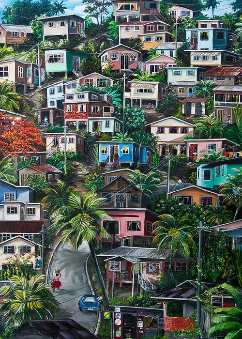 Trinidad Paintings Greeting Cards