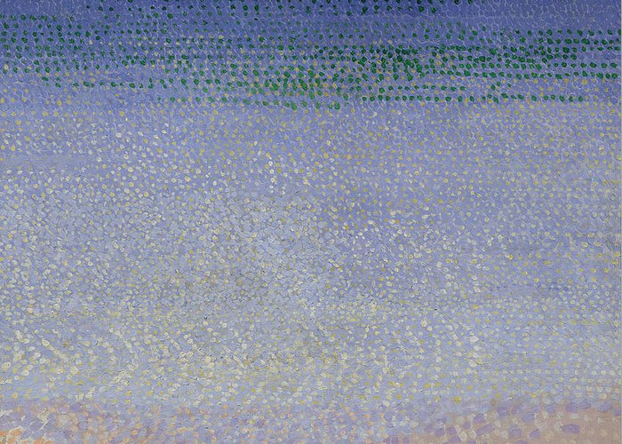 The Iles D'or (the Iles D'hyeres Greeting Card featuring the painting The Iles Dor by Henri Edmond Cross