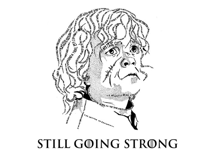Tyrion Lannister Greeting Card featuring the drawing The Imp by Vaidehi Panchal
