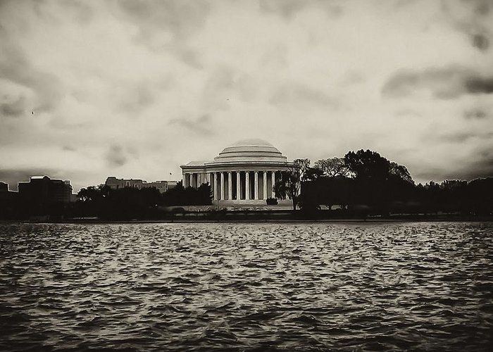 Potomac Greeting Card featuring the photograph The Jefferson Memorial by Bill Cannon