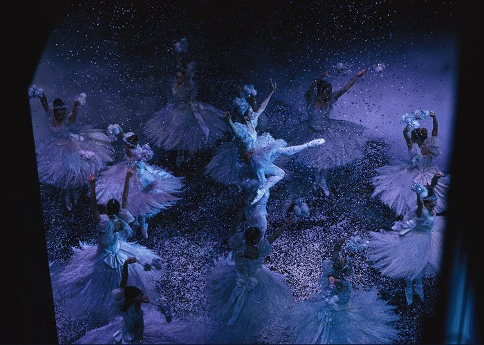 Indoors Greeting Card featuring the photograph The Joffrey Ballet Dances The by Sisse Brimberg