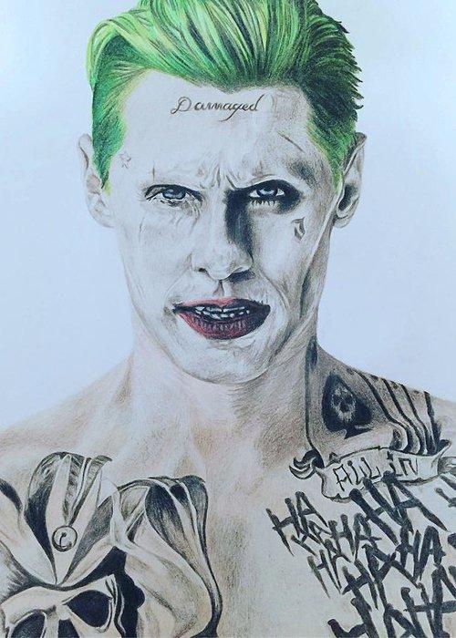 The Joker Drawing By Teresa Warren