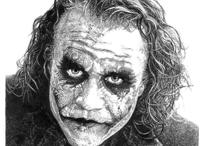 The joker greeting card for sale by yana wolanski joker greeting card featuring the drawing the joker by yana wolanski m4hsunfo