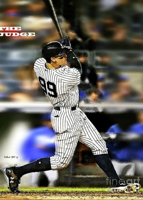The Judge Aaron Judge Number 99 New York Yankees Greeting Card