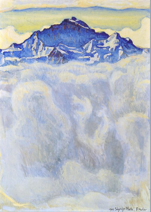 Ferdinand Hodler Greeting Card featuring the painting The Jung Frau Above A Sea Of Mist by Ferdinand Hodler