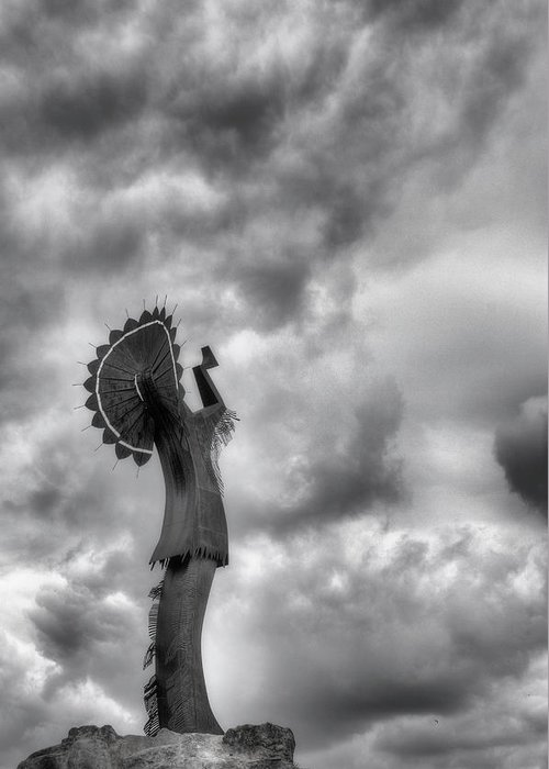 The Keeper Of The Plains Greeting Card featuring the photograph The Keeper by JC Findley