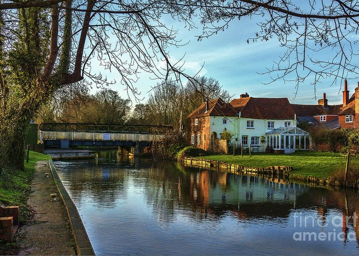 Sulhamstead Greeting Card featuring the photograph The Kennet And Avon Canal At Sulhamstead by Ian Lewis