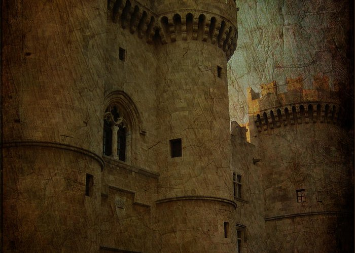 The King's Layer Greeting Card featuring the photograph The King's Medieval Layer by Lee Dos Santos