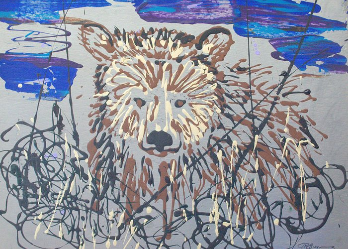 Abstract/impressionist Painting Greeting Card featuring the painting The Kodiak by J R Seymour