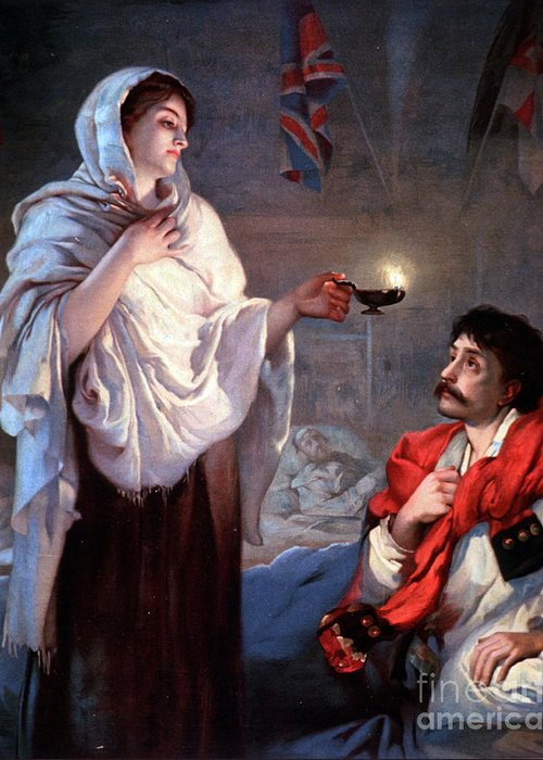 History Greeting Card featuring the photograph The Lady With The Lamp, Florence by Science Source
