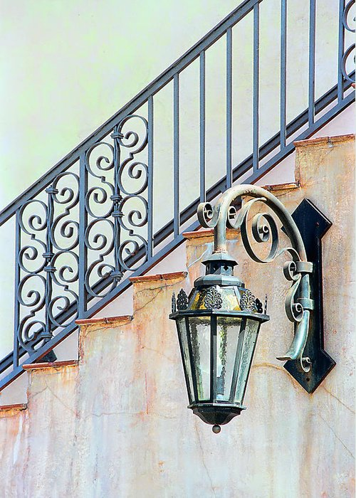 Landscape Greeting Card featuring the photograph The Lamp by Pat Carosone