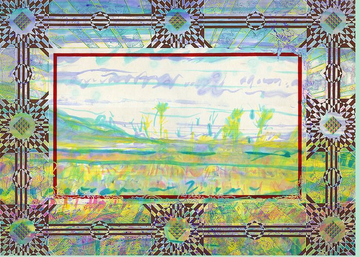 Abstract Greeting Card featuring the photograph The Land Of The Dyamids by Tom Hefko