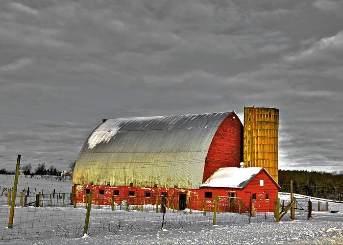 Barn Greeting Card featuring the photograph The Last Barn by Robert Pearson