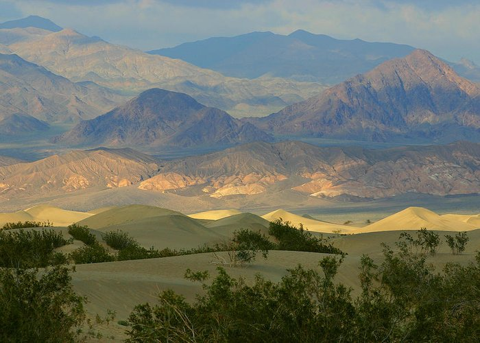 Death Valley National Park Greeting Card featuring the photograph The Layered Look by Brian M Lumley