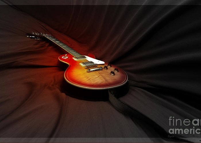 Guitar Greeting Card featuring the photograph The Les Paul by Steven Digman