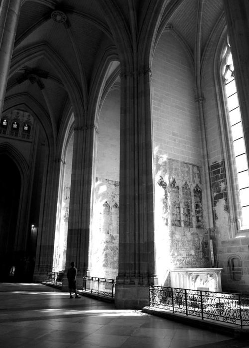 Cathedral Greeting Card featuring the photograph The Light Comes In by Jessica Rose