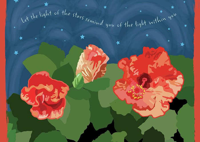 Romantic Greeting Card featuring the digital art The Light Of The Stars by Susan Spangler