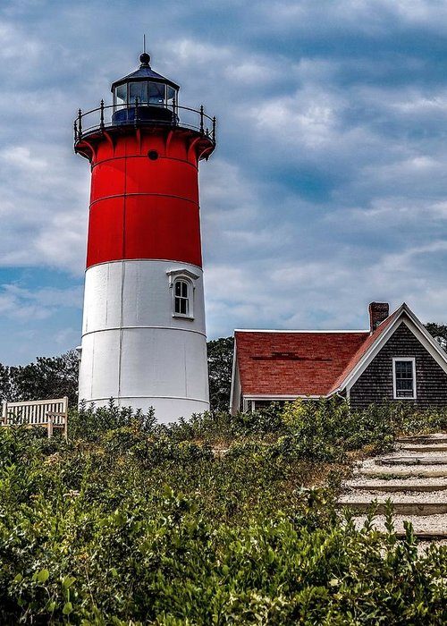 Greeting Card featuring the photograph The Lighthouse by Kendall McKernon