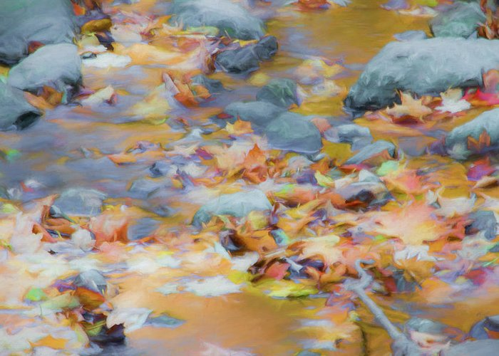 Abstracts Greeting Card featuring the photograph The Lightness of Autumn by Marilyn Cornwell