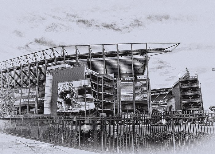 Linc Greeting Card featuring the photograph The Linc - Philadelphia Eagles by Bill Cannon