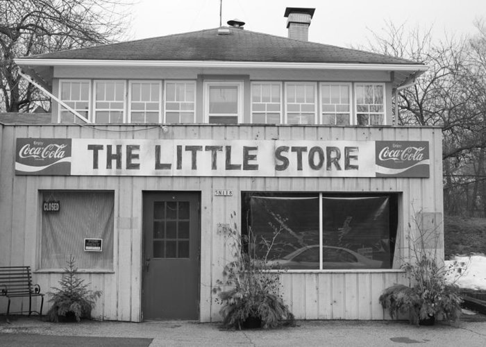 Store Greeting Card featuring the photograph The Little Store by Lauri Novak
