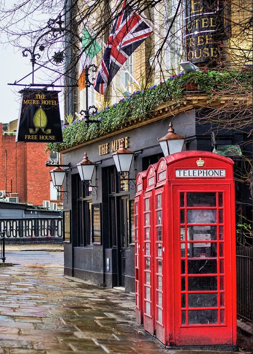 London Greeting Card featuring the photograph The Local by Heather Applegate