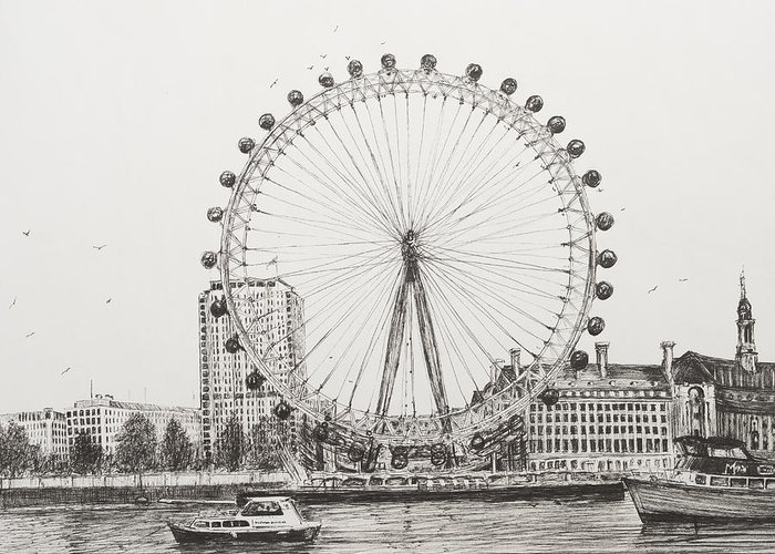 London Drawings Greeting Cards