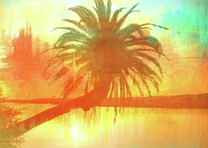 Alicegipsonphotographs Greeting Card featuring the photograph The Loop Palm Textured by Alice Gipson