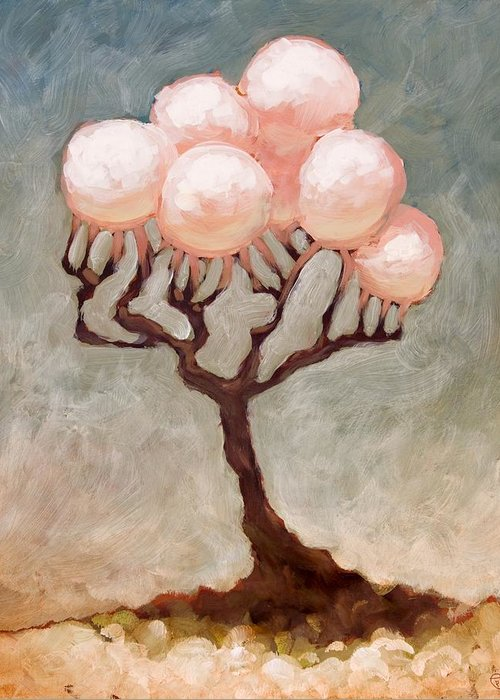 Trees Greeting Card featuring the painting The Luster In The Sun by Ethan Harris