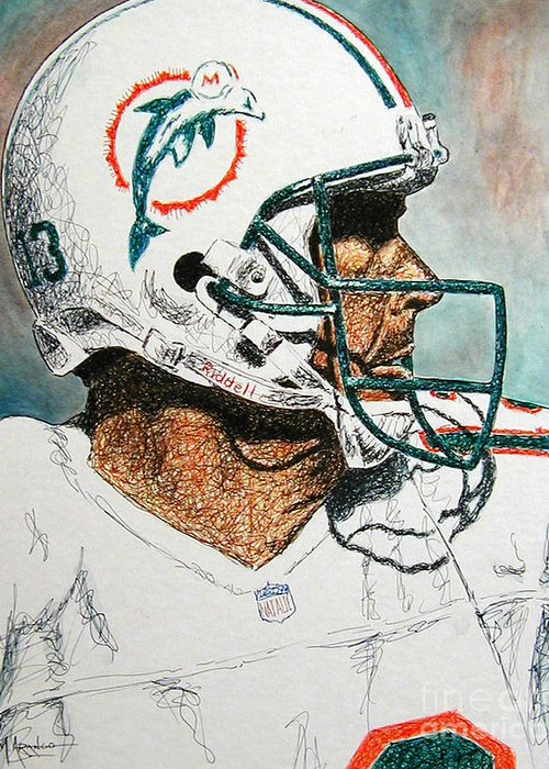 Pro Football Mixed Media Greeting Cards