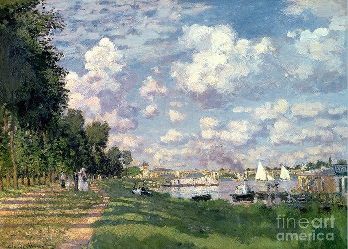 The Greeting Card featuring the painting The Marina At Argenteuil by Claude Monet