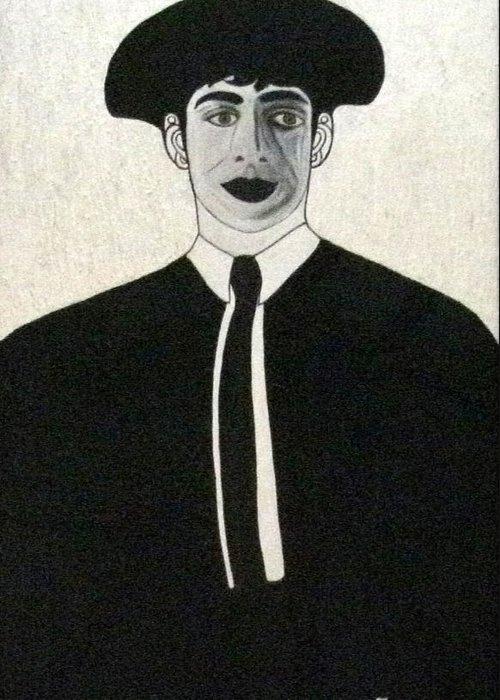 Matador Greeting Card featuring the painting The Matador by Anneliese Fritts