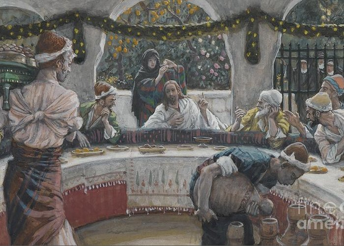 Tissot Greeting Card featuring the painting The Meal In The House Of The Pharisee by Tissot
