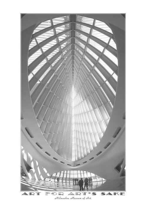 Unusual Architecture Greeting Card featuring the photograph The Milwaukee Art Museum by Mike McGlothlen