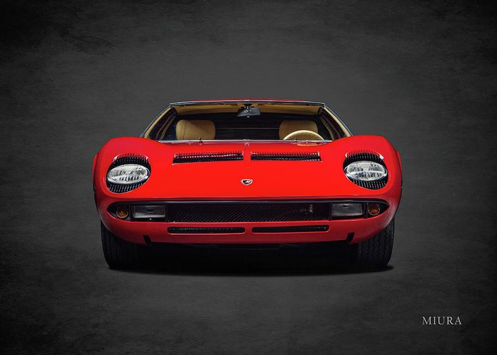 Lamborghini Miura Greeting Card featuring the photograph The Miura by Mark Rogan