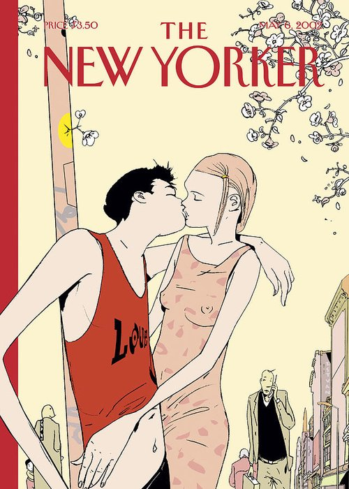 Love Greeting Card featuring the painting The New Yorker Cover - May 6th, 2002 by Istvan Banyai
