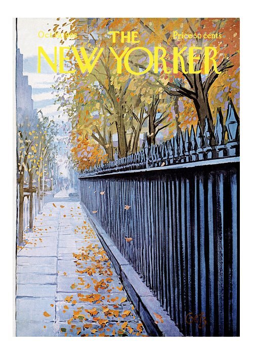 Season Greeting Card featuring the painting Autumn In New York by Arthur Getz